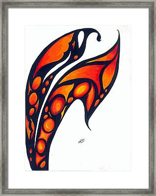 Abstract Flower Framed Print by Shruti Bhagwat