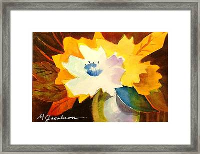 Abstract Flowers 2 Framed Print by Marilyn Jacobson