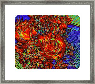 Abstract Flowers Compliments Framed Print