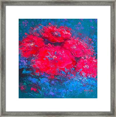 Abstract Flowers Framed Print by Jan Matson