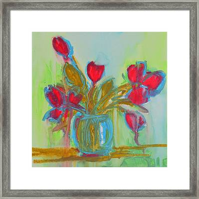 Abstract Flowers Framed Print by Patricia Awapara