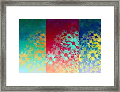 abstract  - flowers- Summer Joy Framed Print by Ann Powell