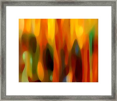 Abstract Forest Framed Print by Amy Vangsgard