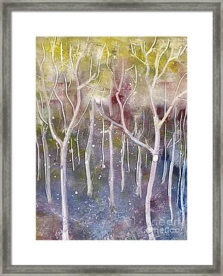 Abstract Forest Framed Print by Suzette Broad