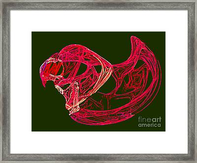 Abstract Fractal Art - Bird Framed Print