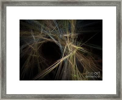 Abstract Fractal Background 01 Framed Print by Antony McAulay