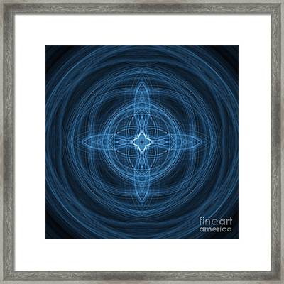 Abstract Fractal Background 07 Framed Print by Antony McAulay