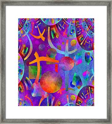Abstract Fractillious - Episode One  Southwestern Framed Print by Glenn McCarthy Art and Photography