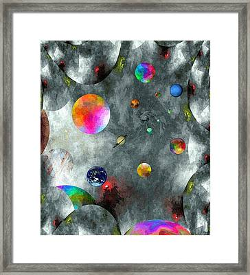 Abstract Fractillious-episode Two-creations Explosion Framed Print by Glenn McCarthy Art and Photography