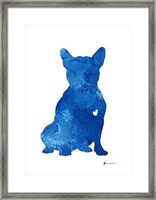 Abstract French Bulldog Silhouette Artwork Framed Print