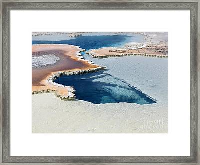 Abstract From The Land Of Geysers. Yellowstone Framed Print