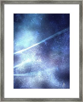 Abstract Frozen Glass Framed Print by Veronica Minozzi