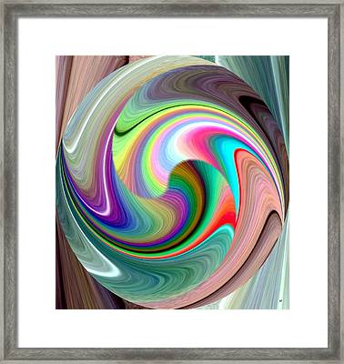Abstract Fusion 241 Framed Print by Will Borden
