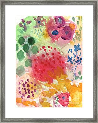 Abstract Garden #43 Framed Print by Linda Woods