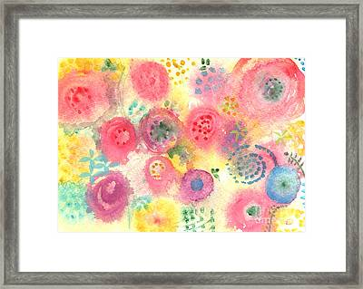 Abstract Garden #45 Framed Print by Linda Woods