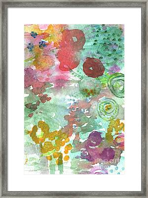 Abstract Garden Framed Print by Linda Woods