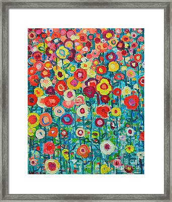 Abstract Garden Of Happiness Framed Print by Ana Maria Edulescu