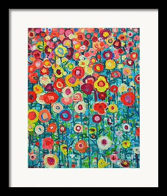 Sunflower Joy Framed Prints