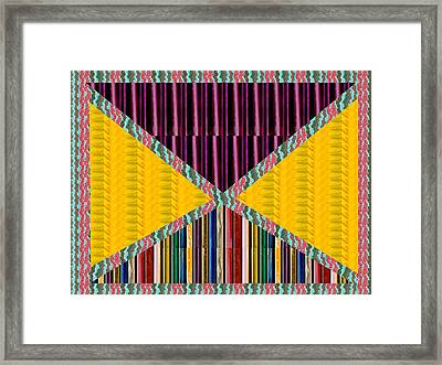 Abstract Geomatrical Vertical Dark Purple Triangle Rainbow Embossed Gas Lighter Container Stripes In Framed Print