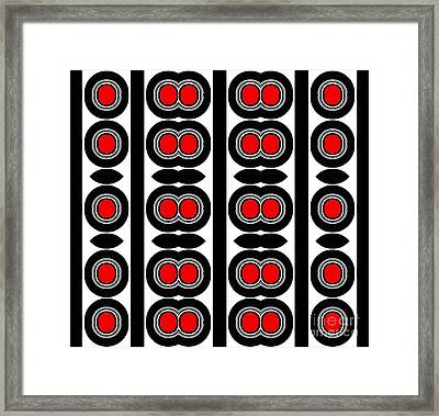 Pattern Black White Red Art No. 379. Framed Print by Drinka Mercep