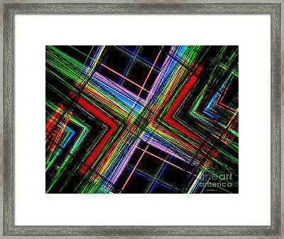Abstract Geometry Of Multi Color Design  Framed Print by Mario Perez