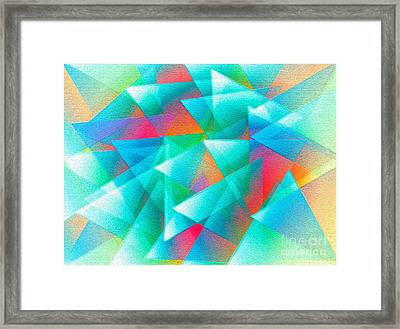 Abstract Geometry Of Triangles In Digital Art Framed Print by Mario Perez