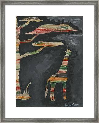Abstract Giraffe Framed Print