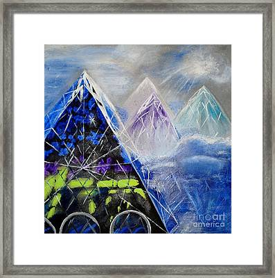 Abstract Glass Mountain Framed Print