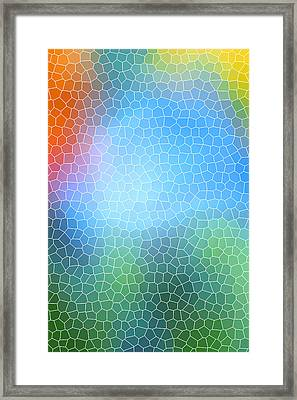 Abstract Glass Pattern Framed Print