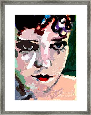 Abstract Gloria Swanson Silent Movie Star Framed Print by Ginette Callaway
