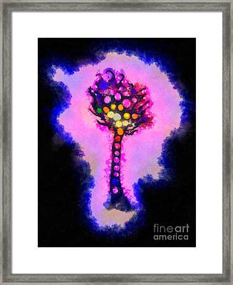 Abstract Glowball Tree Framed Print by Pixel Chimp