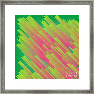 Abstract Glowing Structures Framed Print