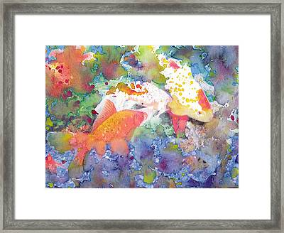 Abstract Goldfish Framed Print by Susan Powell