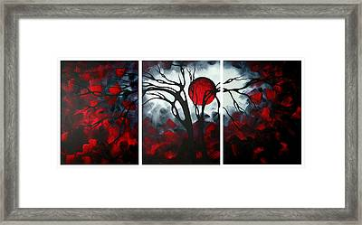 Abstract Gothic Art Original Landscape Painting Imagine By Madart Framed Print