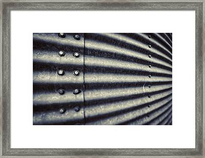 Abstract Grain Silo Framed Print