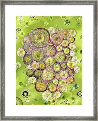 Abstract Grapes Framed Print by Veronica Minozzi
