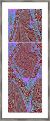 Abstract Graphics Signature Style By Navinjoshi Veiled Burka Woman Twisted Super Man New Emblem Mono Framed Print