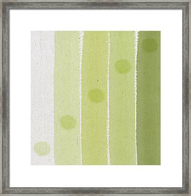 Abstract Green Framed Print by Aged Pixel
