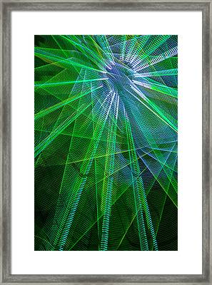 Abstract Green Lights Framed Print