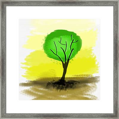 Abstract Green Tree  Framed Print