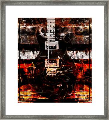 Abstract Guitar Into Metal Framed Print