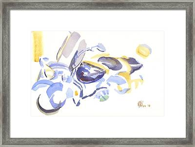 Abstract Motorcycle Framed Print by Kip DeVore