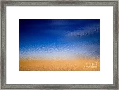 Abstract Harvest Time Framed Print