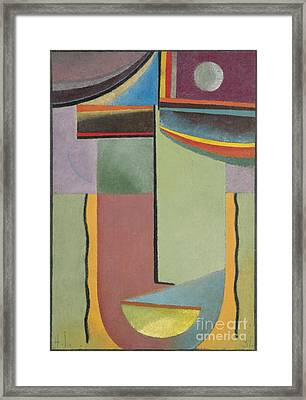 Abstract Head Framed Print by Celestial Images