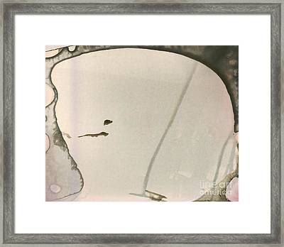 Abstract Head Framed Print by Michal Boubin