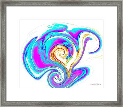 Framed Print featuring the digital art Abstract Heart Art by Annie Zeno