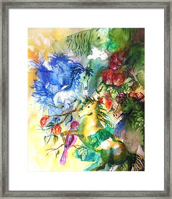 Abstract Horses Framed Print