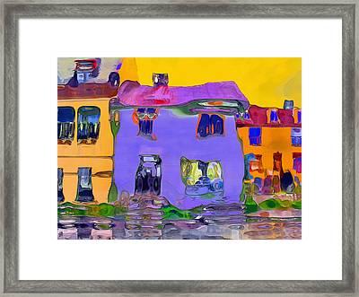 Abstract Houses Framed Print by Nina Bradica