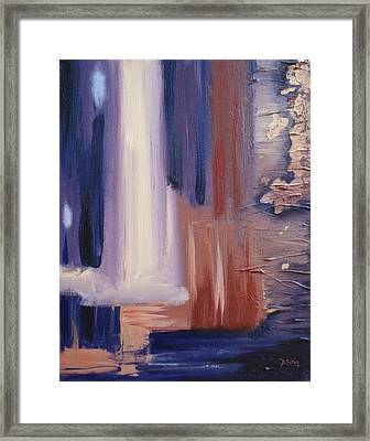 Framed Print featuring the painting Abstract I by Donna Tuten