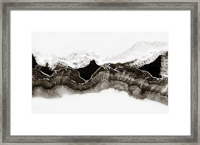 Abstract Ice 1 Framed Print by Marilyn Hunt